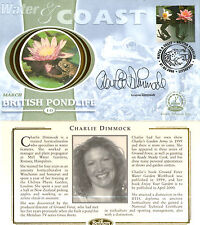 7 MARCH 2000 WATER AND COAST BENHAM SMALL SILK FDC SIGNED CHARLIE DIMMOCK