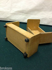 Dollhouse Miniature Pair of Beds Natural Wood ~ Antique Furniture ~Germany