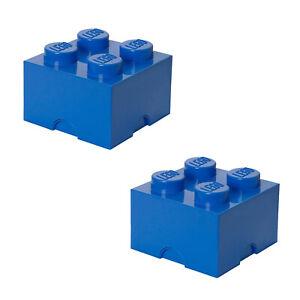LEGO Aufbewahrungssteine, Storage Brick, 4 und 8 Noppen, stapelbar, Doppelpack
