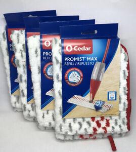 (4) O-Cedar ProMist Max Microfiber Spray Mop Refills Eco-Friendly Washable