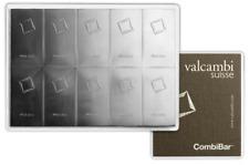 L@@K 10 x 10g CombiBar | Silver | PREPPER VALCAMBI Investment - UK SELLER * !!!
