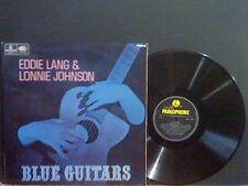 EDDIE LANG & LONNIE JOHNSON  Blue Guitars  LP  Mono   Blues    Lovely copy !!