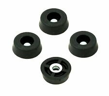 4 SMALL ROUND RUBBER FEET .671 W x .250 H - CUTTING BOARDS HOBBY - US MADE