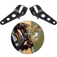 2pcs Motorcycle Headlight Bracket Fork Mount Bracket For Cafe Racer Rack UK
