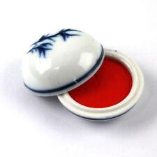 Premium-Stempelpaste im Porzellantopf, japanische Stempelfarbe für Kalligrafie