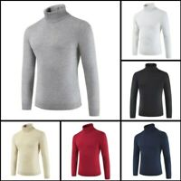 Knitwear Turtle Neck Casual Pullover Warm Winter Knit Jumper Mens Sweater