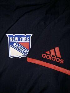 ADIDAS NHL  New York Rangers Blue Rink Full-Zip Jacket