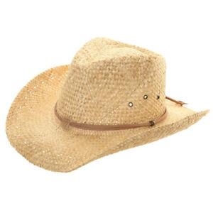 Cowboy Straw Hat Sun Cap Mens Womens Band Ladies Fedora Summer Panama Natural