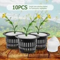 10pcs/Set Plastic Hydroponic Basket Mesh Pot Net Cup for Garden Balcony Planting