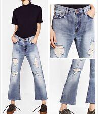 ZARA TRF hem crashes processing jeans 5252 / 203 Size 36 (US4)