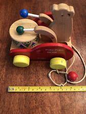 Poko Poko Bear Drummer Wood Pull Toy Toddler Toy