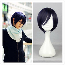 Noragami Yato Cospaly Wig Dark Purple Lolita Anime costume Bob Short Full Hair