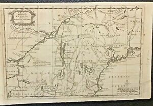 "Authentic Antique Map of AMERICA 9 x 14"" 1758 During French & Indiam War"