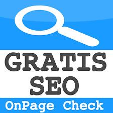 ★ GRATIS ★ OnPage Analyse für Ihre Webseite Suchmaschinenoptimierung Website SEO