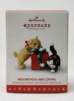 HALLMARK 2016 MISCHIEVOUS AND LOVING KITTEN PUPPY MEMBER EXCLUSIVE ORNAMENT NIB