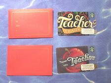 New for Sales - Starbucks Card - Thank you Teacher & Envelope ( total 2 cards )