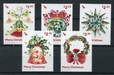 New Zealand NZ 2017 MNH Christmas Decorations Baubles 5v Set Seasonal Stamps