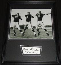 George Blanda Signed Framed 11x14 Photo Display w/ Oakland Raiders QBs