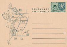 Liechtenstein 1967 30rp on 20rp Postal Stationary Postcard Unused VGC