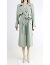 RIVER ISLAND Green Belted Oversized Summer Mac Jacket Trench Coat UK 6 to 16