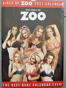 Girls of Zoo A3 Wall Calendar Girls 2021 Alice Goodwin Daisy Watts Sophie Sabine