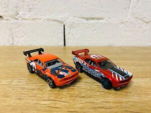 Hot Wheels Dodge Challenger Drift Car 2012 Orange 2016 Red