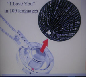 Language Of Love, I Love You, In 100 Languages Viewing Lens Keyring Gift Boxed