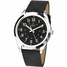 Limit Men's Stainless Steel Black Dial & Black Strap Watch 5950