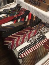 Lot 20 Mens Vintage Neckties Silk Polyester Character Mixed Neck Ties Unique B