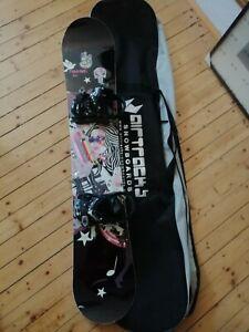 Trans Snowboard (150 cm) mit Bindung Elfgen 84 Gr. M und Tasche