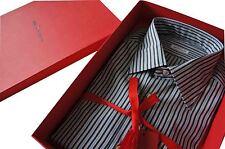 "Kiton Formal Multi-Grey & Blue Stripe  SZ: 42 Collar 16.5"" BNWB"