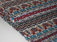 HILCO Viskose Jersey LILOU, beige-türkis-bunt, graphische Muster, elastisch