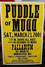 Puddle of Mudd..Block Print Concert Poster Worcester, Ma.