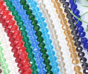 Wholesale New 17 Colors Crystal Loose Beads 4mm,6mm,8mm 15''