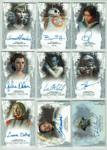 Star Wars Masterwork Topps 2017 Base Autograph Card Selection