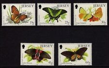 JERSEY MNH UMM STAMP SET 1995 SG 717-721 EXOTIC BUTTERFLIES