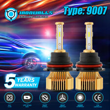4Side IRONWALLS 9007 HB5 LED Headlight Bulb Kit 6000K Super Bright Hi low Beam