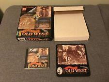 Wyatt Earps Old West PC-CD 1994 Macintosh Mac Big Box w Mouse Pad Rare
