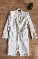 Donna Karan Collection Textured Linen Silk Car Coat Blazer Jacket SZ S/M