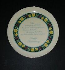 "Lasting Memories Fine Porcelain american greetings Happy Anniversary Plate 5"""