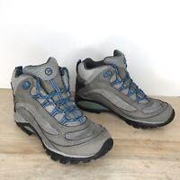 MERRELL Sz 7, EU 37.5 Women's Siren Mid Waterproof Hiking Boot Castle Rock/Blue