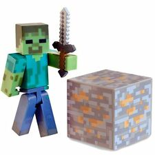 Minecraft Overworld Zombie Fully Articulated Action Figure with Accessories