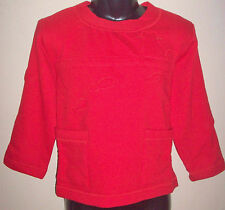 New 100% Cotton Boys Girls Jumper Sweater Age Large L 8-10 Years Red