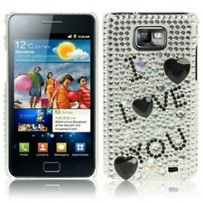 Coque pour samsung Galaxy s2 i9105 plus + strass case Cover de protection pochette LOVE
