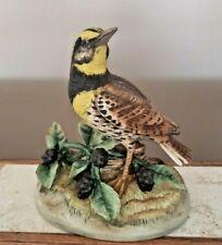 "Vintage ""Meadowlark"" Bird Figurine 6"" Tall Andrea by Sadek-Awesome"