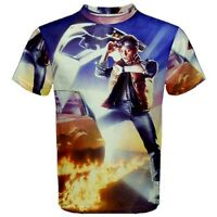 New Back to The Future Sublimated Men's Sport Mesh Tee t shirt Free Shipping