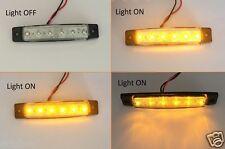 10x Klare Linse LED Einzigartig Seiten Markierungsleuchten Bernsteinfarben 24V