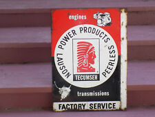 Tecumseh Factory Service Double Sided Metal Flange Sign