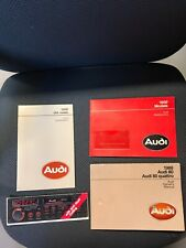 1988 Audi 80 Quattro Owners Manual and warranty plus radio guide