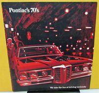 1970 Pontiac Dealer Sales Brochure Full Line GTO Judge Tempest LeMans Red Cover